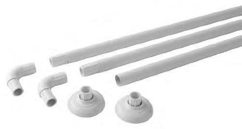 From 12.93 White Aluminium Modular Shower Rail Can Make 4 Shapes