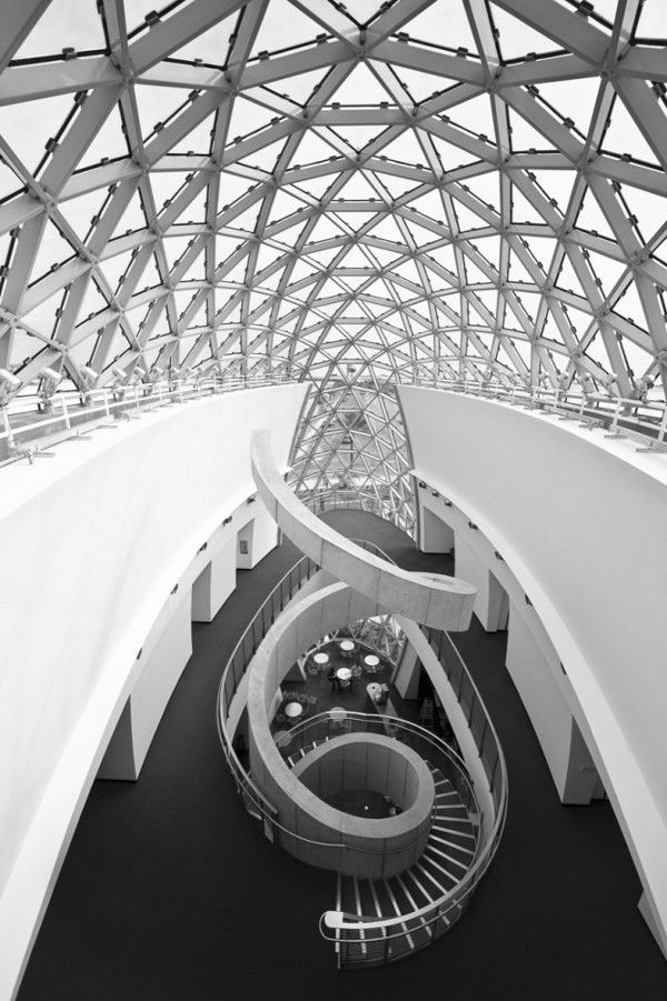 "Salvador Dali Museum in St. Petersburg, Florida. The architecture, greatly inspired by the great surrealist, ""combines elements of the classical and the fantastical,"" according to the director of the museum. The design speaks to the essence of Dalí while incorporating functional elements to combat Florida's tough weather."