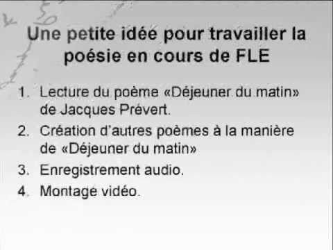 """La poésie en classe de FLE: """"À la manière de..."""" (+playlist)"""