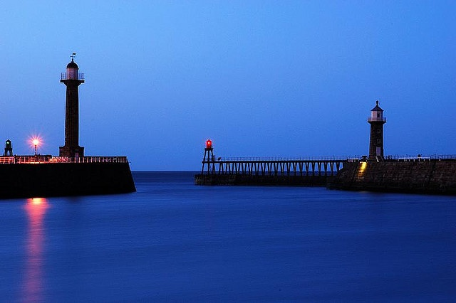 Whitby Harbour - so calm!