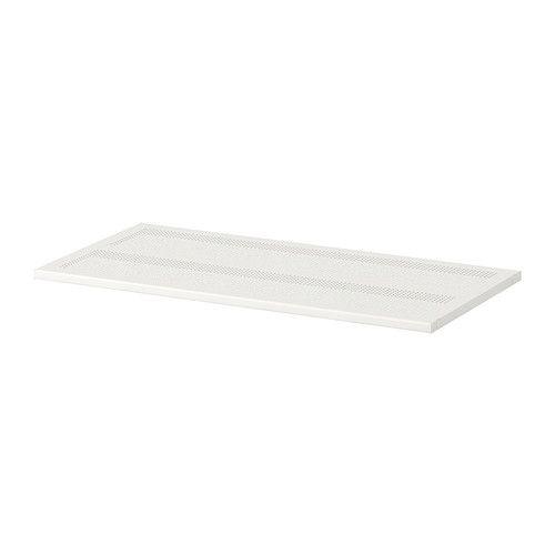 ALGOT Shelf - metal white, 80x38 cm  - IKEA