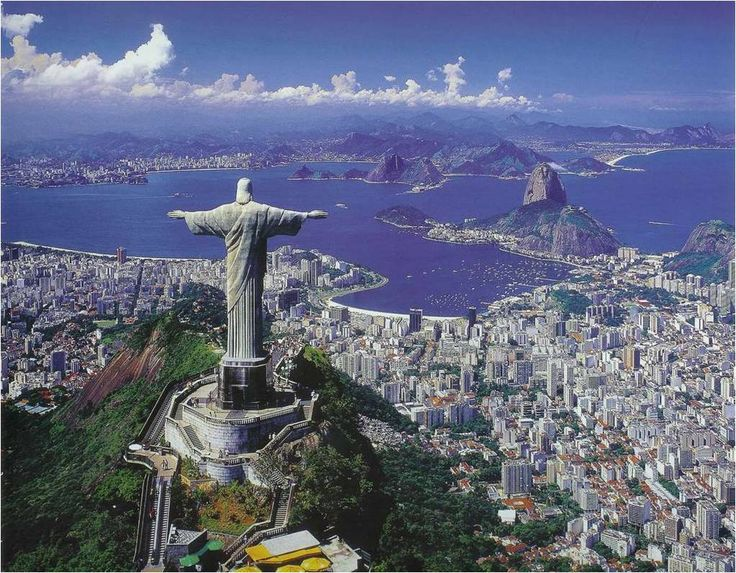 "The Largest Art Deco Statue in the World. "" Christ the Redeemer"", Rio de Janeiro – Brazil. One of the 7 wonders of the World."
