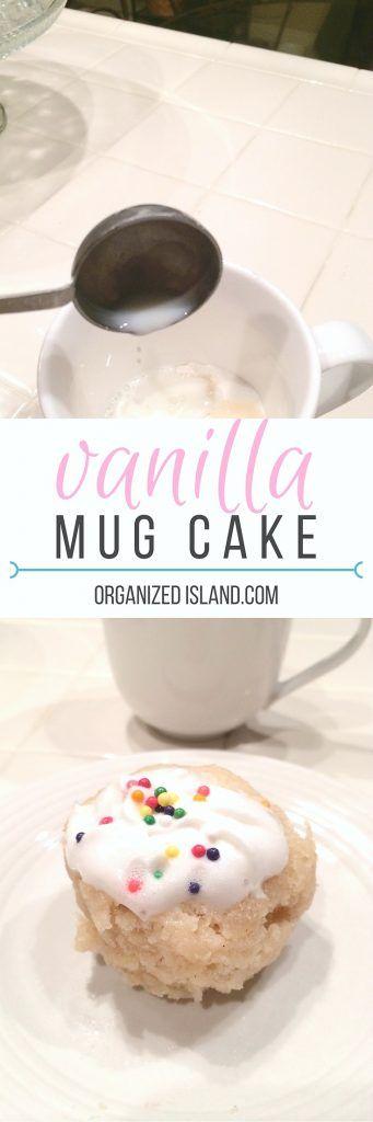 Vanilla Cinnamon Mug Cake - a quick sweet treat made in a mug!       #vanilla #cinnamon #mugcake #recipe #mugcakes #recipes