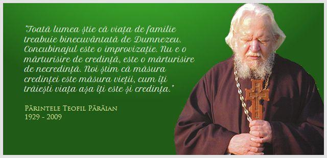 Pr. Teofil Pârâian - Concubinajul este o mărturisire de necredință