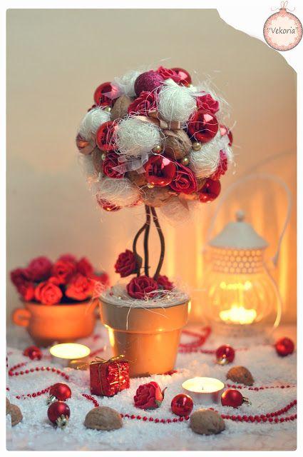 """Vekoria"" - creative shelving Victoria Sokurov: Christmas tree ""Red Roses""!"