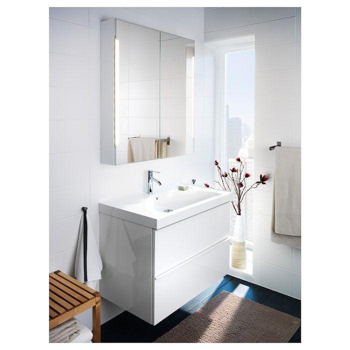 Storjorm Peilikaappi 2 Ovea Integr Led Lam Valkoinen Ikea In 2020 Spiegelschrank Badezimmereinrichtung Lampen Furs Bad