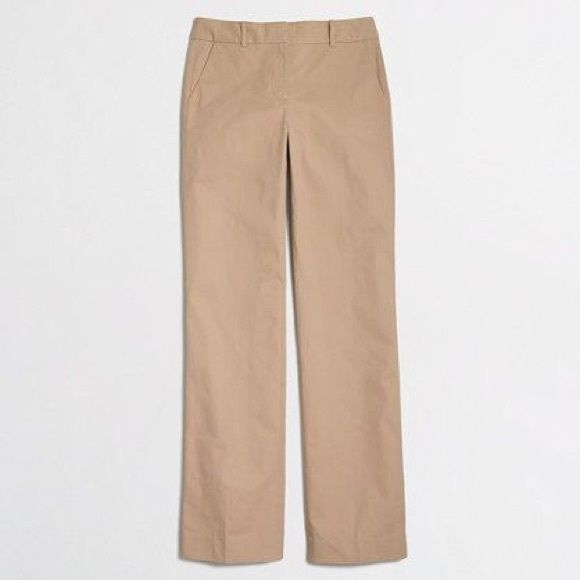 """J Crew Factory chinos in light khaki - NWT Too small, my gain is your gain. 33"""" inseam, perfect condition. J. Crew Pants Trousers"""