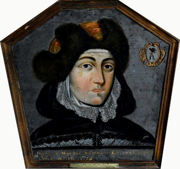 Portret trumienny Zuzanny Łuszczewskiej, malarz polski, 2.poł. XVII