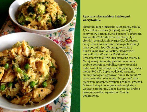 Przepis na ryż curry z zielonymi warzywami...