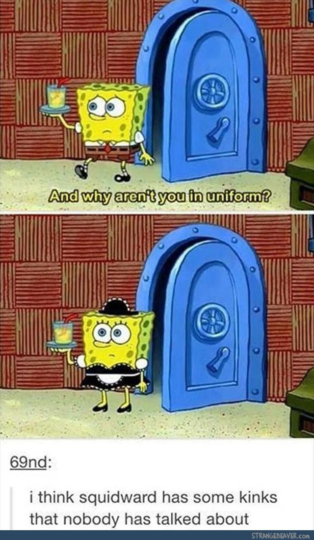 I ship squidbob so hard like you don't understand how much I ship them