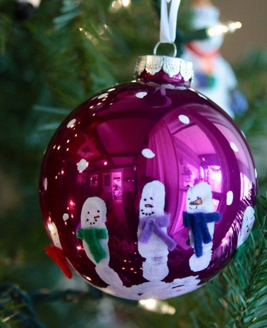 Handprint Photo Ornaments Make The Perfect Gifts | The WHOot