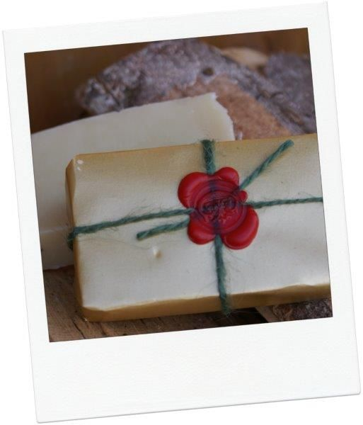 Christmas gift wrap soap