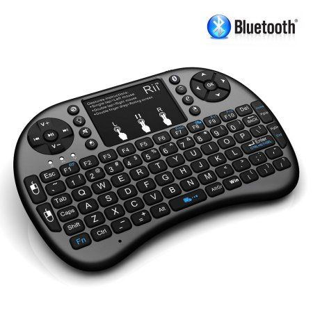 Rii i8+ BT Mini Wireless Bluetooth Backlight Touchpad Keyboard with Mouse for PC/Mac/Android