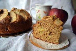 Torta Integrale Mele e Arance senza burro