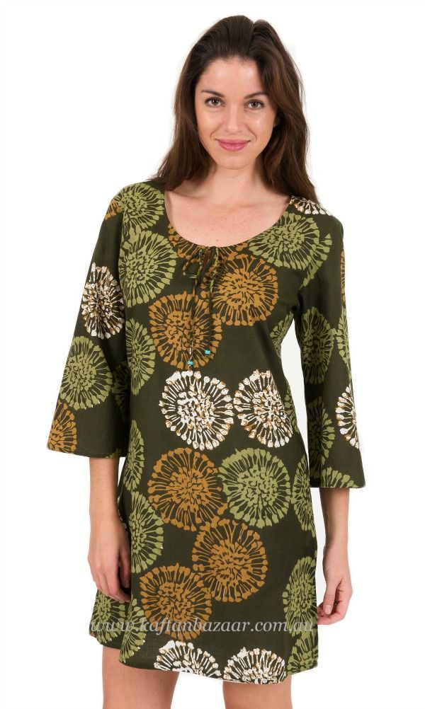 Lovely cool cotton kaftan dress. Wear as a beach cover up, around the Resort, on a cruise or out for a coffee. Continue reading →