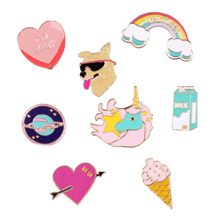 Fun and colorful badges The dog dog rocket skateboard brooch Japan South Korea style pin Brooch wholesale manufacturers selling