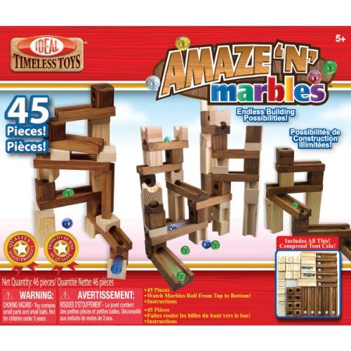 Ideal Amaze 'N' Marbles Classic Wood 45-Piece Construction Set >>> LEARN MORE @ http://www.enetworkinghub.com/Cool_Toys/100168/aby
