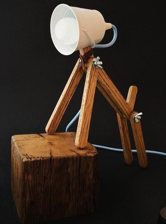 White Desk Lamp For Children Bedroom Lamp For Reading Etsy