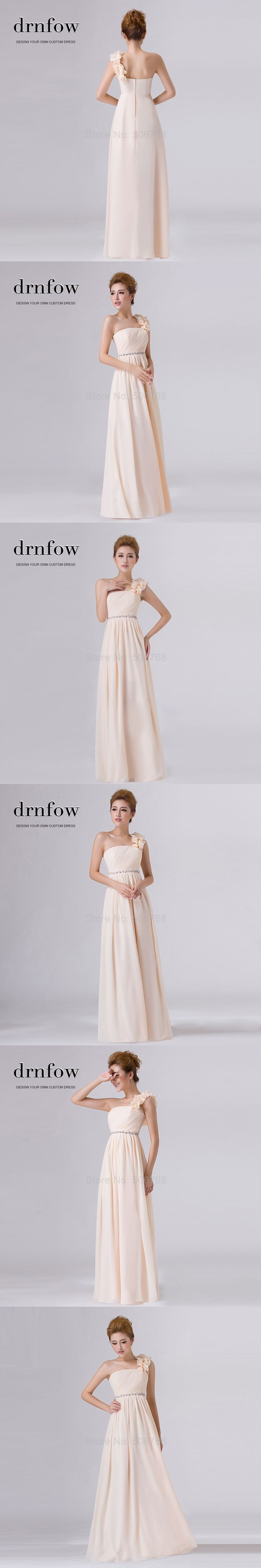 The 25 best ankle length bridesmaids dresses ideas on pinterest 2017 one shoulder chiffon long bridesmaid dresses scalloped women ankle length bridal party prom dress ombrellifo Gallery