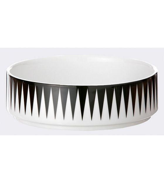 Ferm Living Schüssel aus Porzellan, schwarz/weiß, 13x14cm - lefliving.de