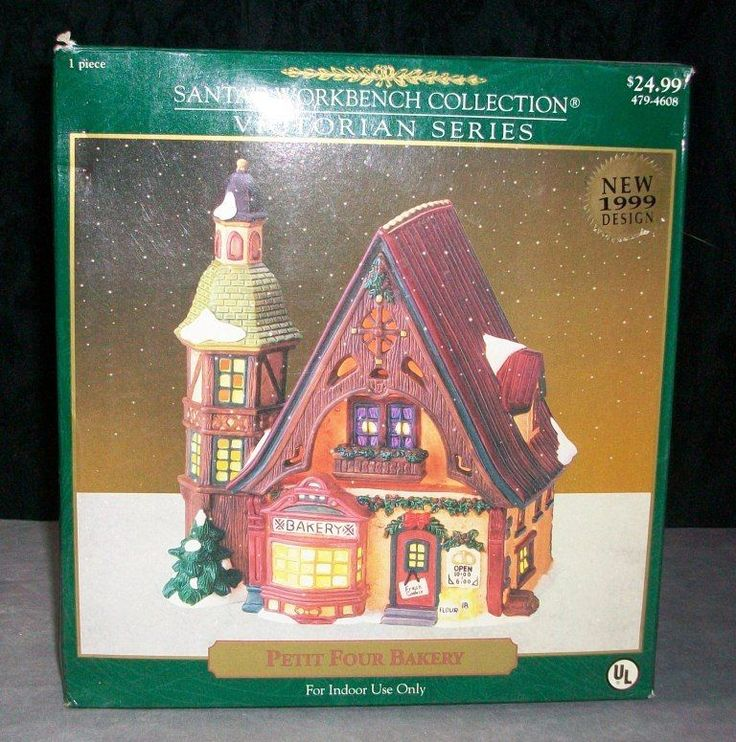 Santa S Workbench Collection Victorian Series Petit Four Bakery Lighted House Holidays