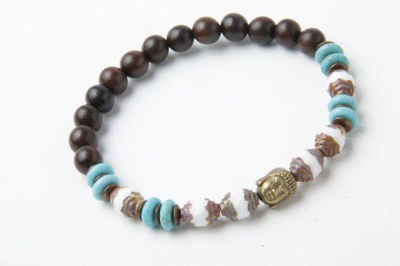 Buddha Bracelet Yoga Bracelet Men's bracelet by TempleOfTheStones