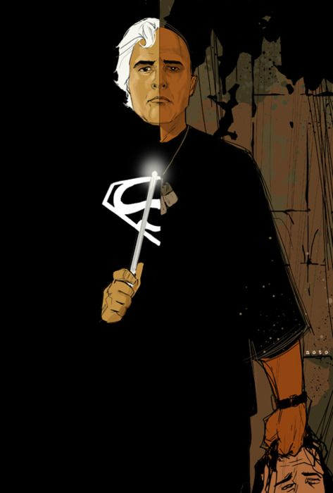 When you think of the two opposites of Marlon Brando you could say thin and fat. I think Phil Noto captured it much better with this superb illustration of ...