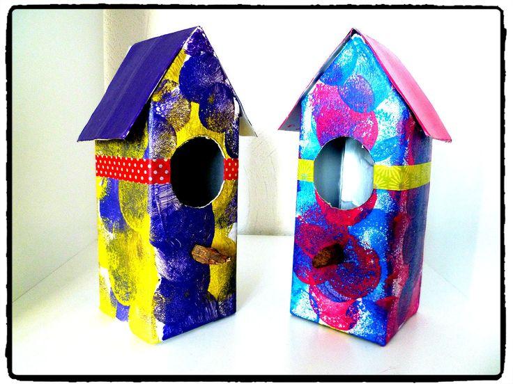 Nichoirs, cabanes à oiseaux, recyclage