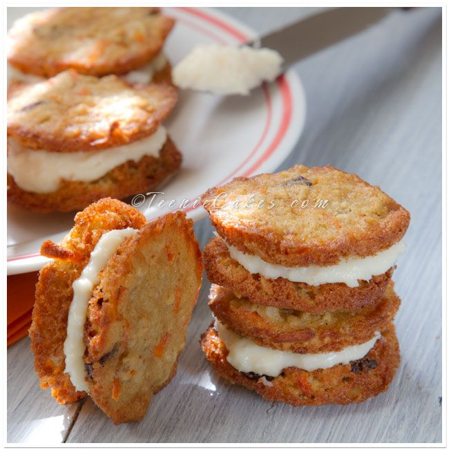 Carrot cake cookies, Carrot cakes and Cake cookies on Pinterest