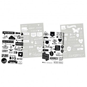 3,35 Simple Stories DIY Insta Clear Stickers Words - De nummer 1 in scrapbooking, art journal en mixed media