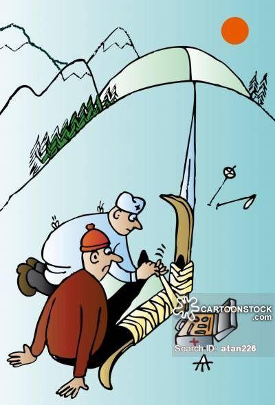 Skiing Accident Cartoons Skiing Accident Cartoon Funny