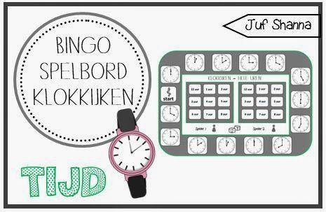 Bingo spelborden klokkijken