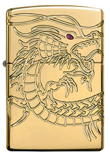 Seamless, wrapped 360-degree Multicut carving across the front,sides, and back of an Armor gold plated lighter brings this Asian dragon to life. Translucent red epoxy inlay and gold plated inside unit add to the mystique. Special pacakaging will draw interest to this 360-degree MultiCut Armor design. For optimal performance, fill with Zippo premium lighter fluid. […]