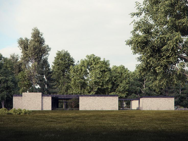 https://flic.kr/p/bpdCKQ | New Canaan | Based on Philip Johnson's Hodgson House in New Canaan, Connecticut. This is a little know private home by Johson, just a stone's throw from his iconic glass house.   Modelled in 3ds Max and rendered in Vray