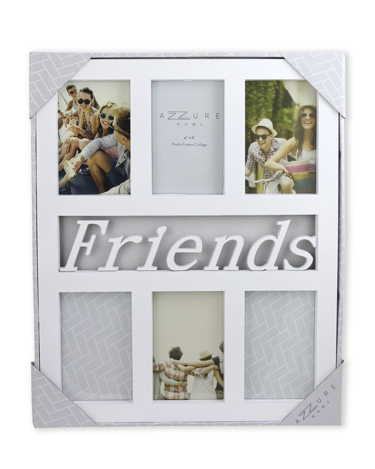 "Azzure 4"" x 6"" 6-Picture Friends Collage Frame"