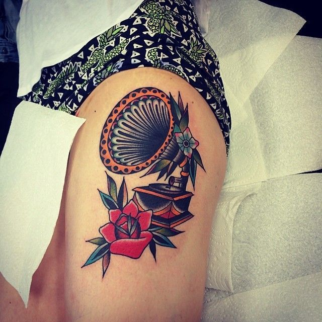 Record Player | Tatspiration.com - Your home for discovering tattoo ideas and tattoo inspiration.