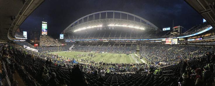 CenturyLink Field - The home of the Seahawks.  Panoramic photo taken with iphone 7