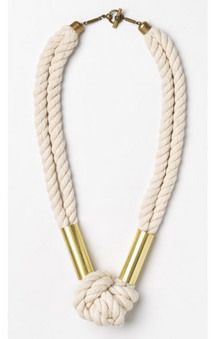 Rope Necklace via Habitat: Love the simplicity of this nautical rope necklace