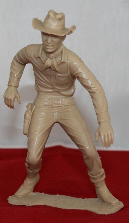 1960 S Marx Vintage Plastic 5 Inch Action Figure Cowboy