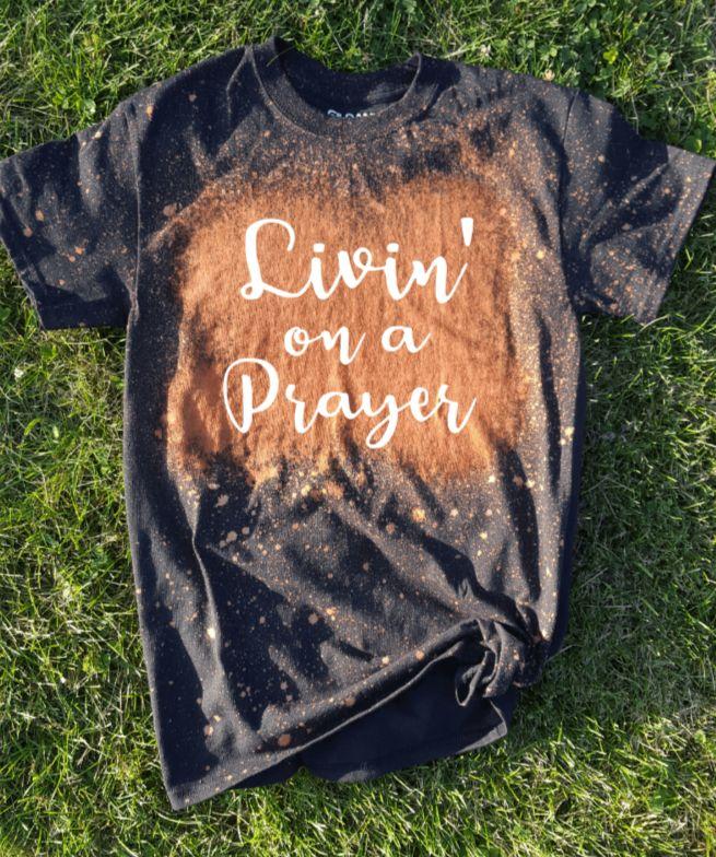 Living on a Prayer in 2020 Diy shirt, Black shirt, Shirts