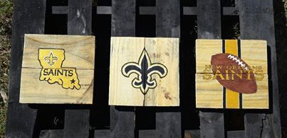 New Orleans Saints Decor / Wall Art by VersesRusticDecor on Etsy, $55.00