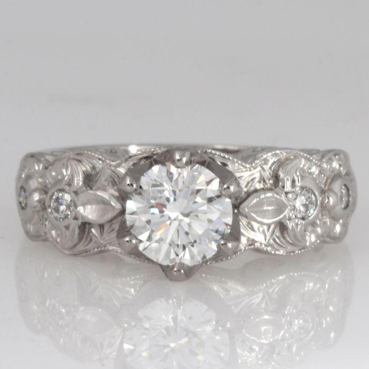 Ladies palladium diamond engagement ring www.robertpaul.com.au