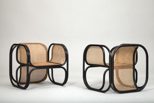 Jan Bocon; Armchairs by Thonet for the Czech Embassy in Stockholm, 1970s.