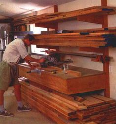 Woodshop Storage Ideas | ... storage as well as support for a chopsaw table designed for rough