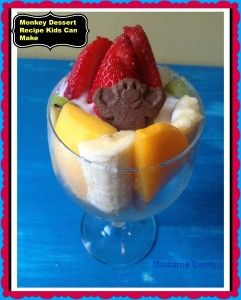 Fun Easy Recipes For Kids: Monkey Food.  I so am making this with the kids this weekend. How fun to have #monkey food!!