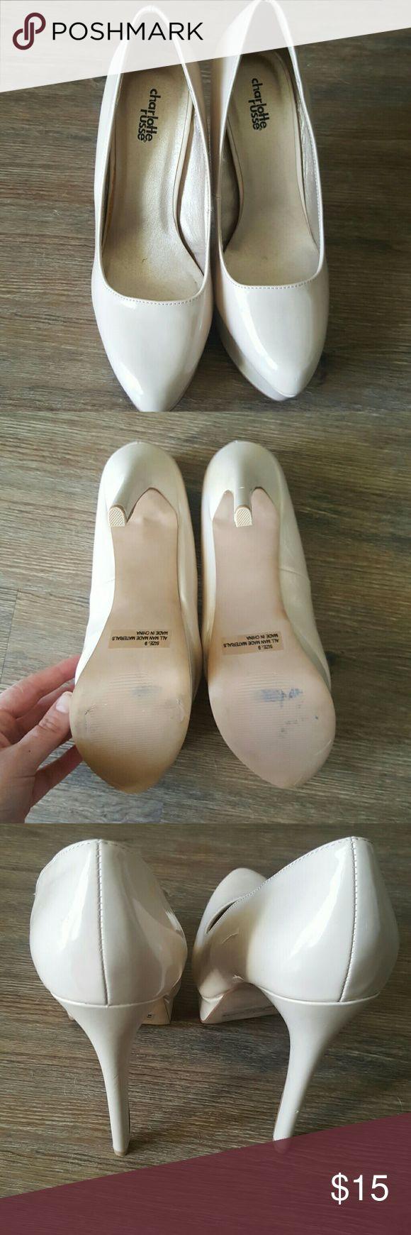 Charlotte Russe Tan Heels Charlotte Rouse tan heels. Never worn outside Charlotte Russe Shoes Heels