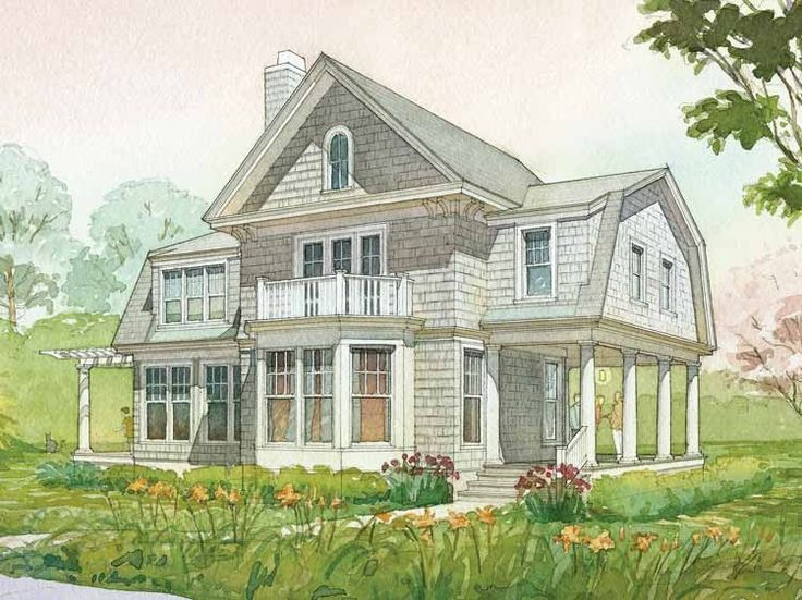 Dutch house plan with 2951 square feet and 3 bedrooms s for Dutch colonial house plans