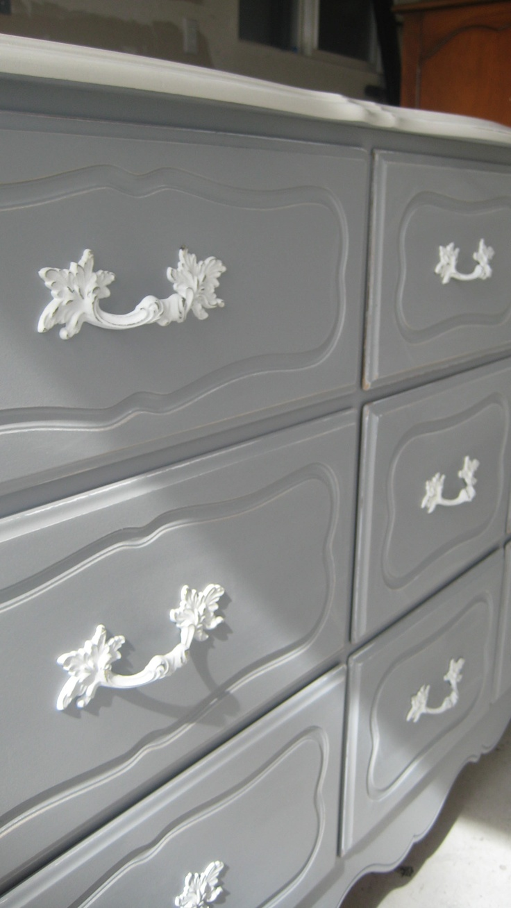 Grey French Provencial dresser   a more subtle option for my bedroom still  thinking I need a bold yellow though Best 25  Refinished bedroom furniture ideas on Pinterest   Bedroom  . Painting My Bedroom Furniture. Home Design Ideas
