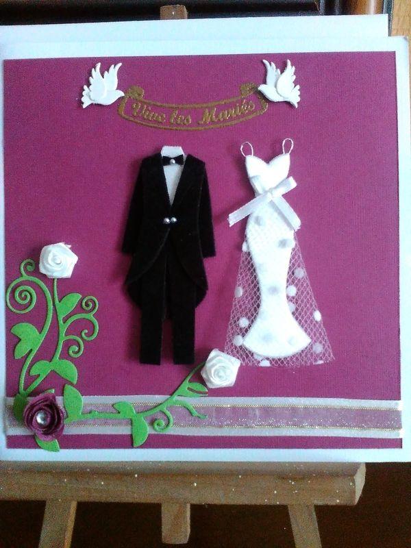 Carte félicitations mariage