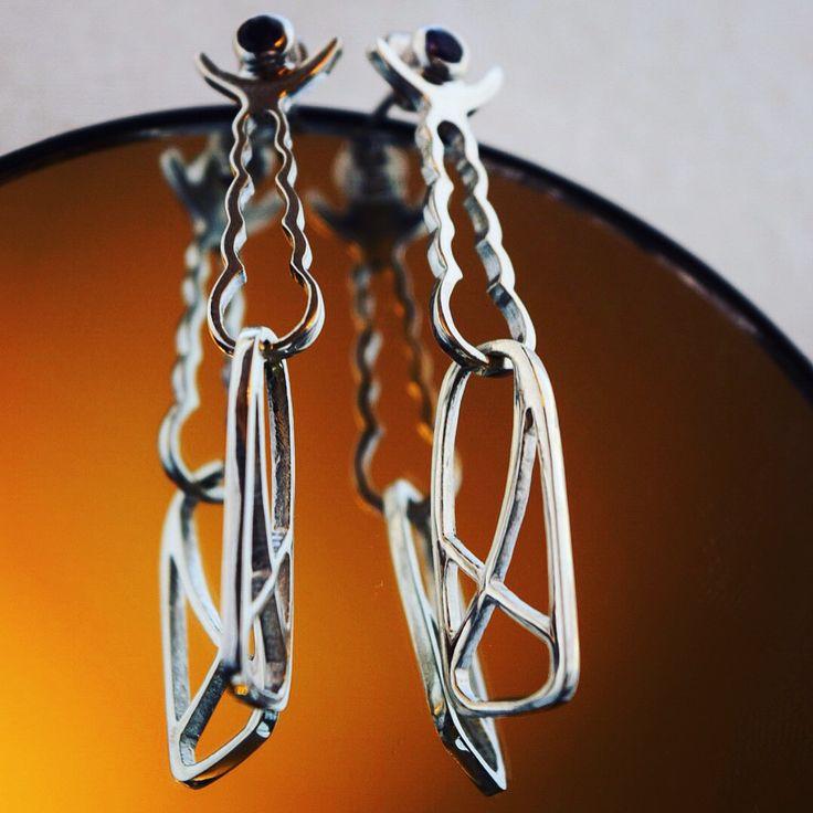 Silver & amethyst MANA earrings https://www.etsy.com/shop/MANAByGekova